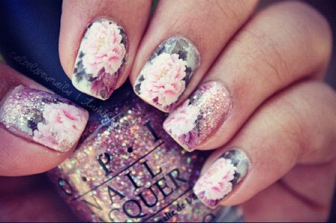 Sparkly roses