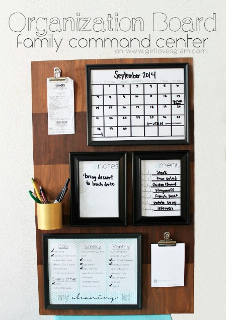 Family Command Center Organization Board