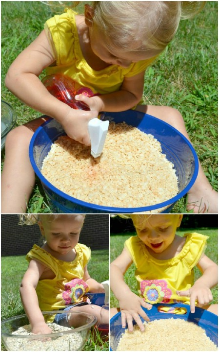Play with Rice Krispies.