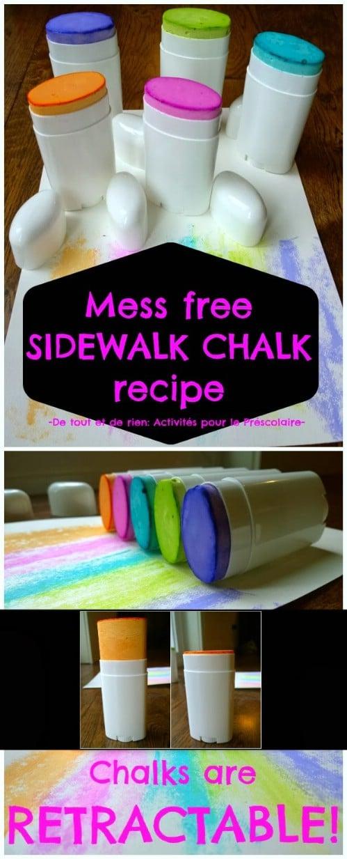Mess Free Sidewalk Chalk