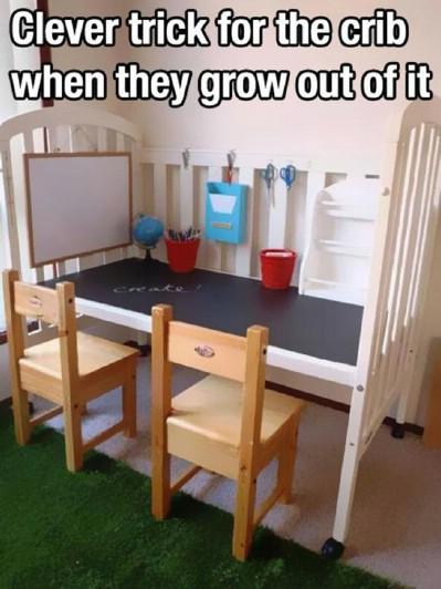 Re-purposed crib