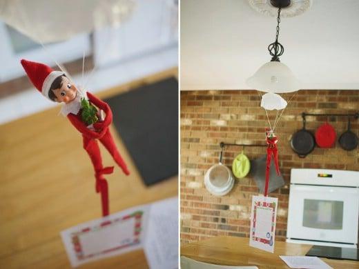 Parachuting Elf