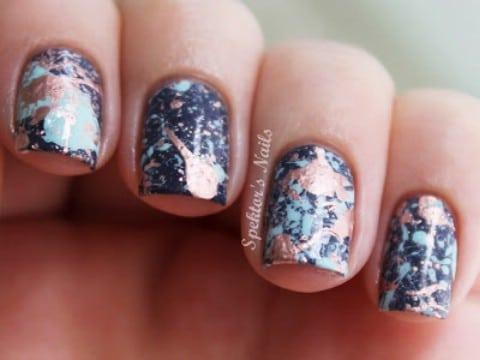 Splatter nail design tutorial