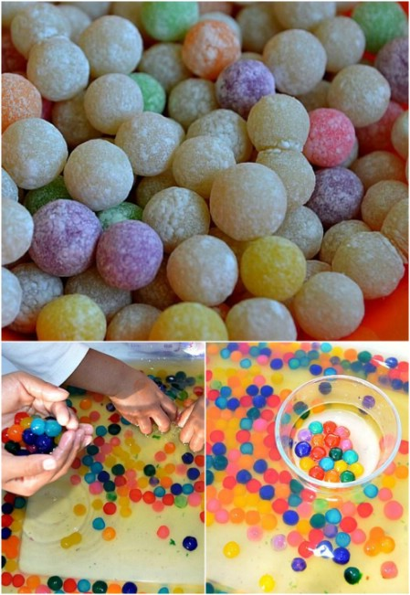 "Make edible ""water beads."""