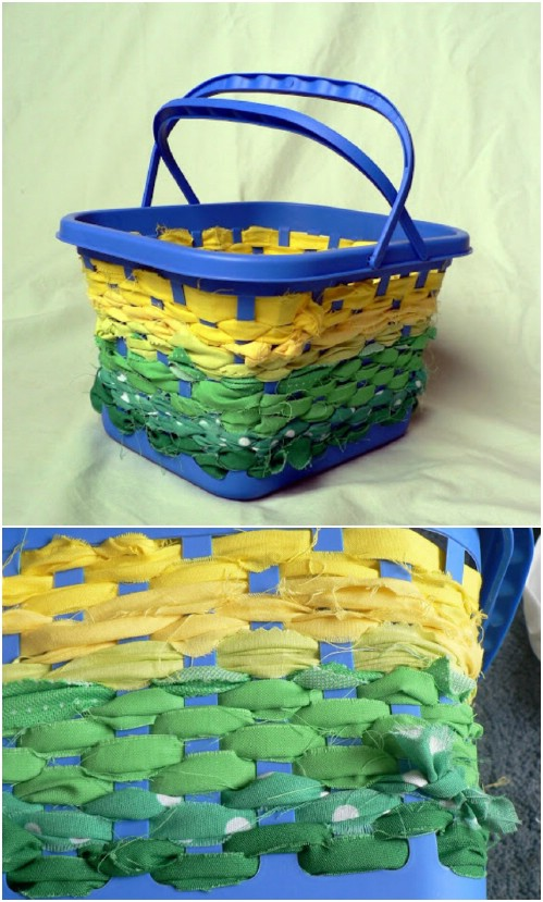 No Sew Fabric Basket