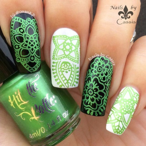 Stamped nail designs