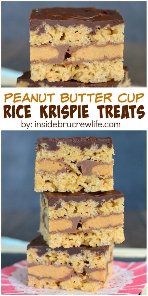 Peanut Butter Cup Rice Krispie Treats