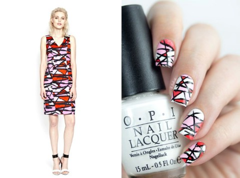 French Connection dress-inspired nails