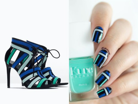 Shoe-inspired nails