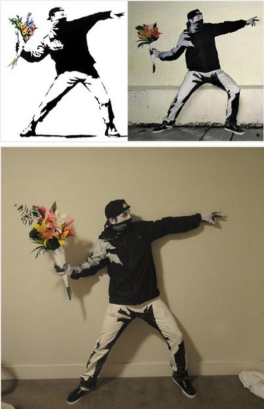 Banksy's Flower Thrower