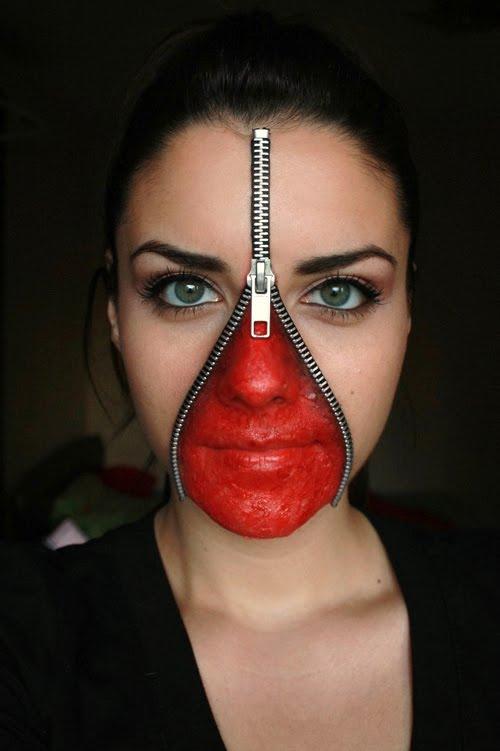 Unzipped Face