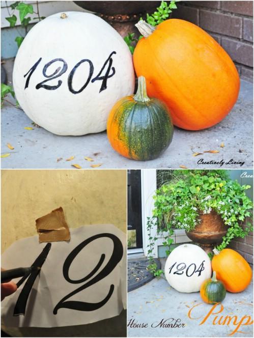 Make a Pumpkin House Marker