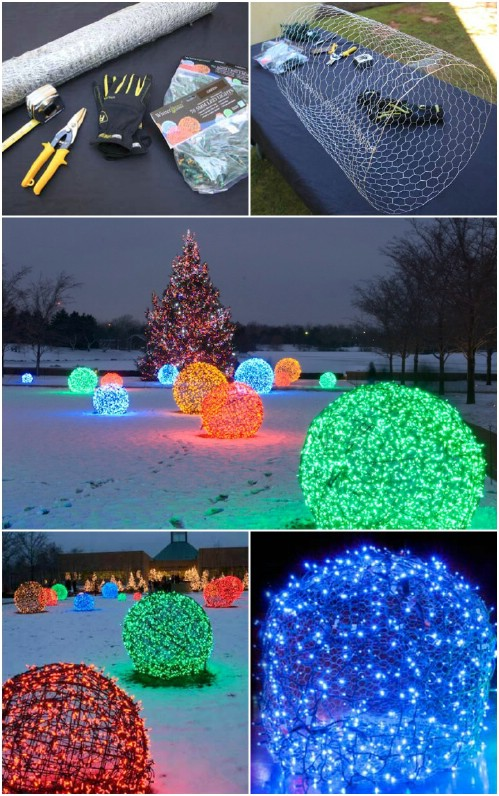 DIY Christmas Light Balls