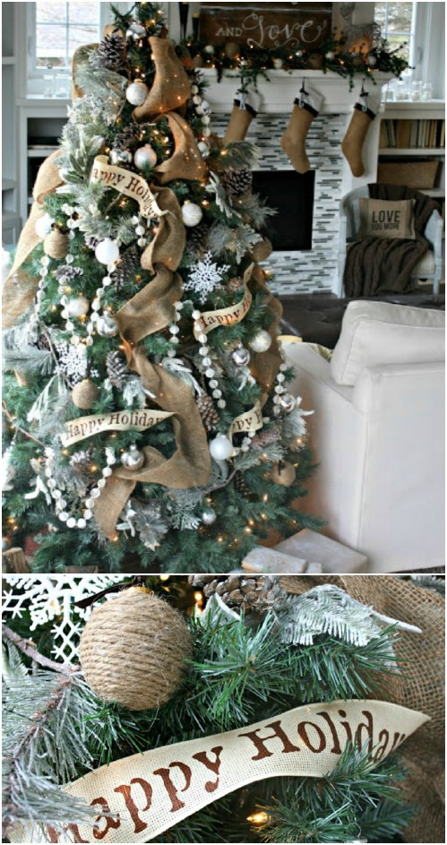 40 Rustic Christmas Decor Ideas You Can Build Yourself Diy Crafts