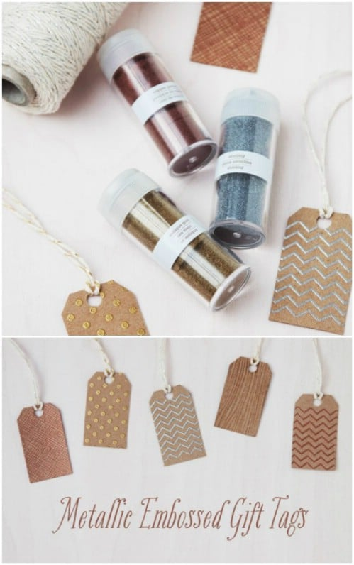 Metallic Embossed Gift Tags