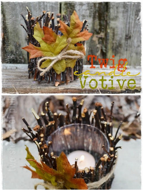 Traditional Twig Votives