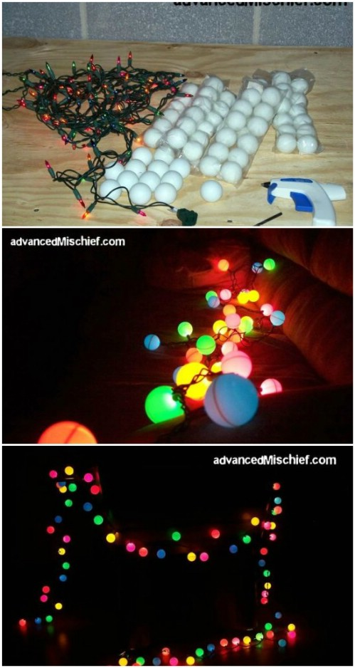 Ping Pong Ball Lights