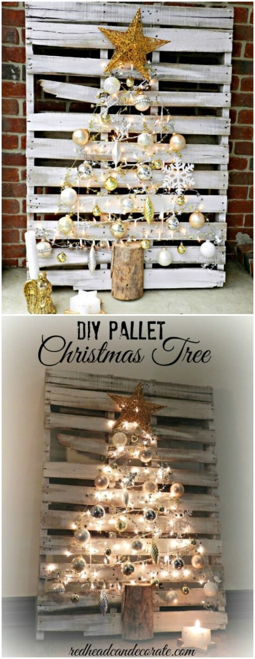Lighted Pallet Tree