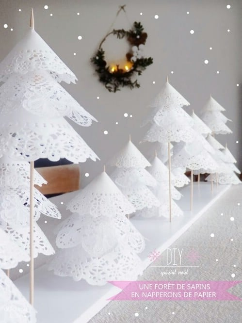 Paper Doily Forest