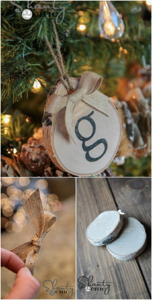 Birch Initial Ornaments