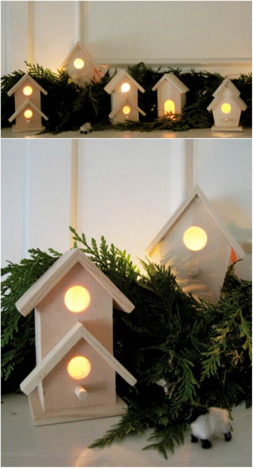 Lighted Wooden Village