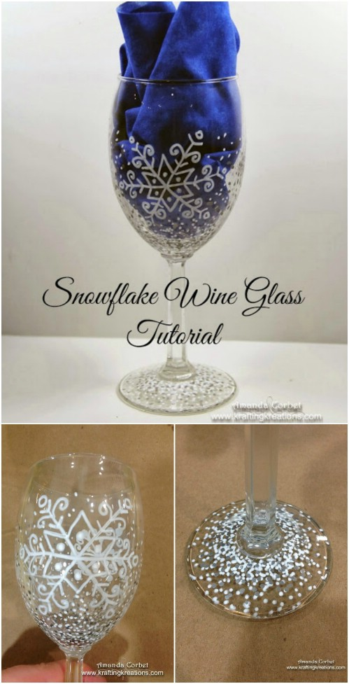 5 Cute And Clever Painting Ideas To Christmas Ify Your Wine Glasses Diy Crafts
