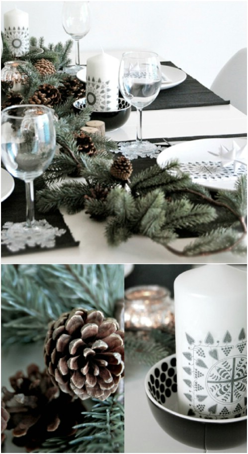 Pinecone Table Garland