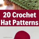 Crochet Hat Patterns Collage