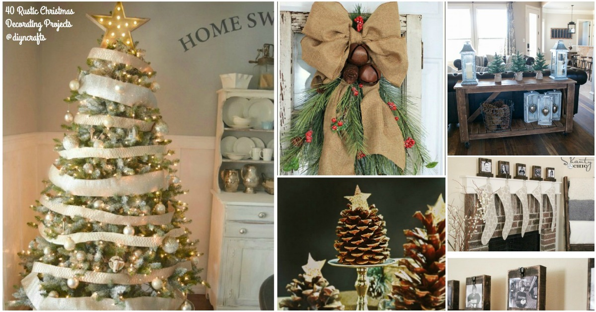 40 Rustic Christmas Decor Ideas You Can Build Yourself Diy