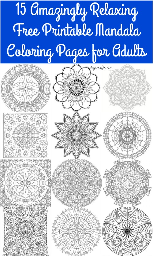 15 Amazingly Relaxing Free Printable Mandala Coloring