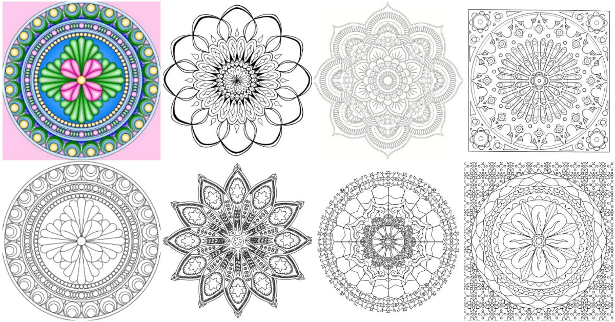 printable indian mandalas coloring pages - photo#6