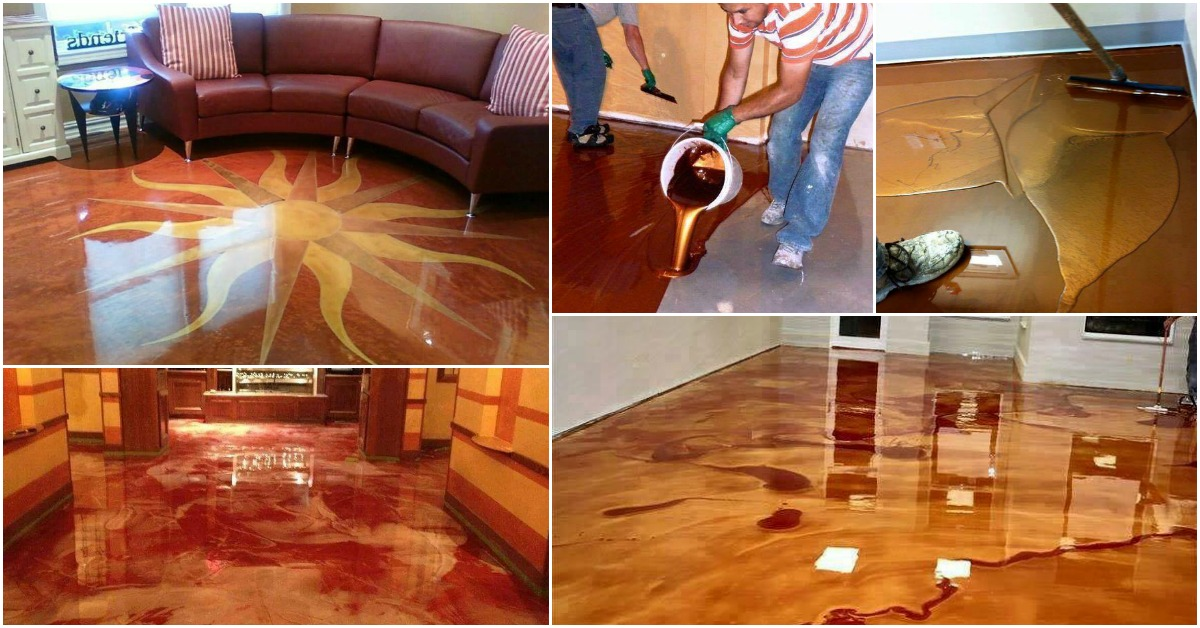 Exciting New Trend Metallic Epoxy Floor Gives You Glossy