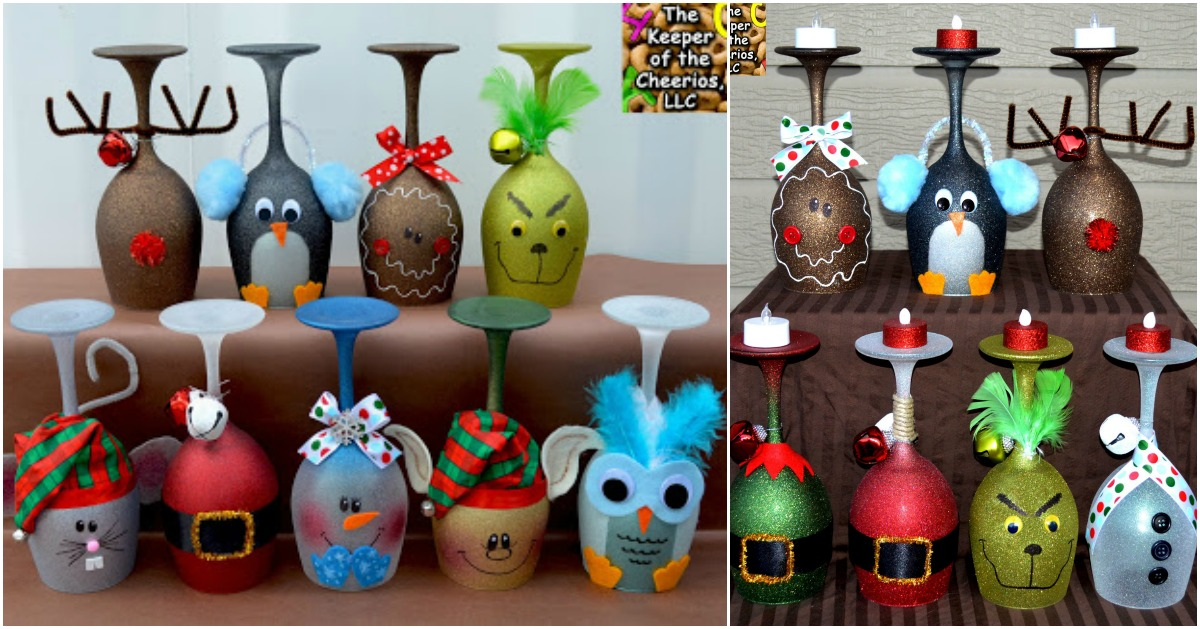 5 Cute And Clever Painting Ideas To Christmas Ify Your Wine