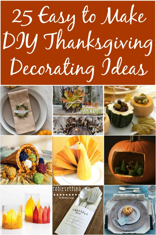 5 Easy to Make DIY Thanksgiving Decorating Ideas - DIY & Crafts