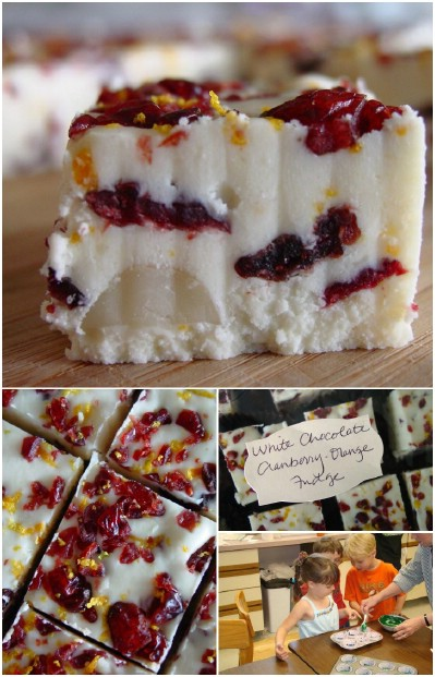 Cranberry and Orange Fudge