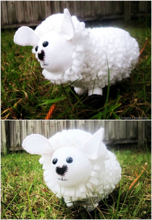 Sweetheart Sheep Sock Toy