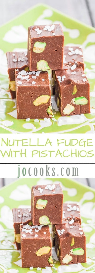 Nutella Fudge with Pistachios
