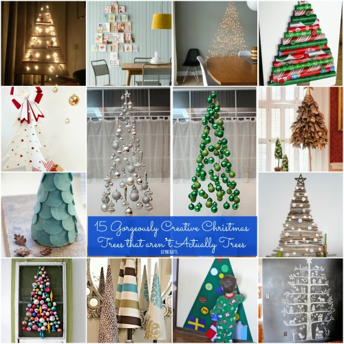 15 Gorgeously Creative Christmas Trees that aren't Actually Trees {Easy tutorials}