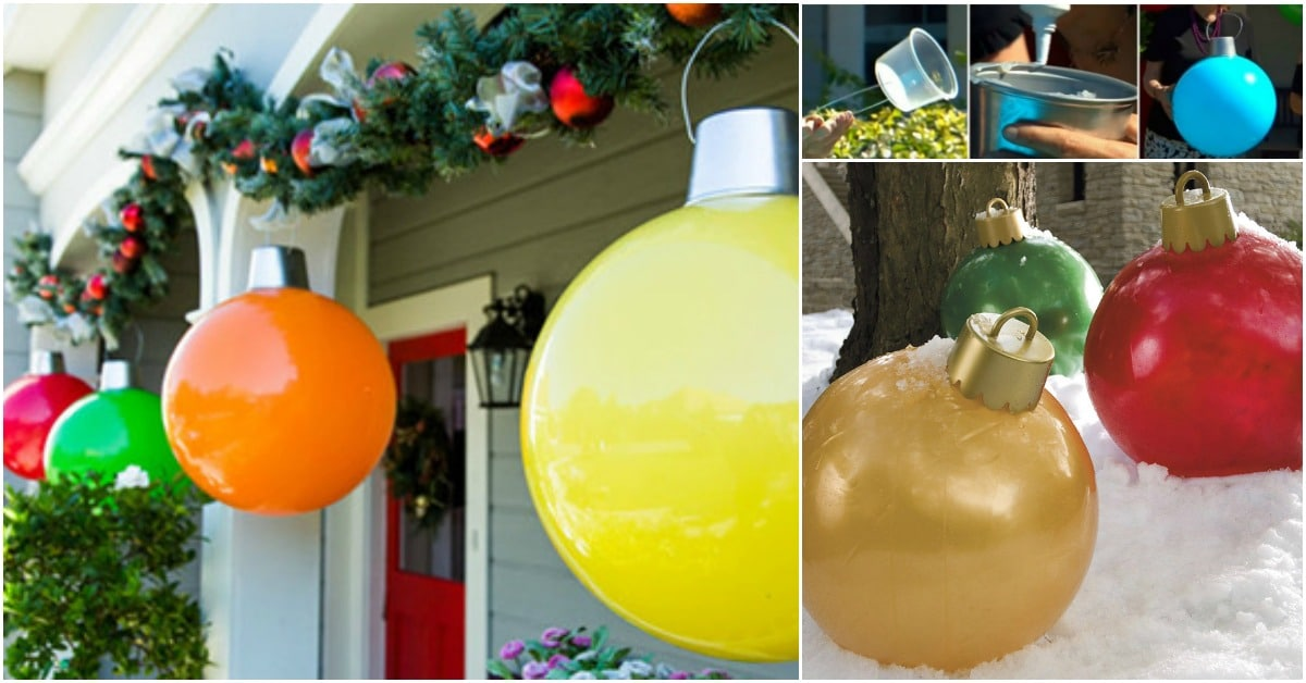 How To Make Your Own Giant Christmas Ornaments Diy Crafts