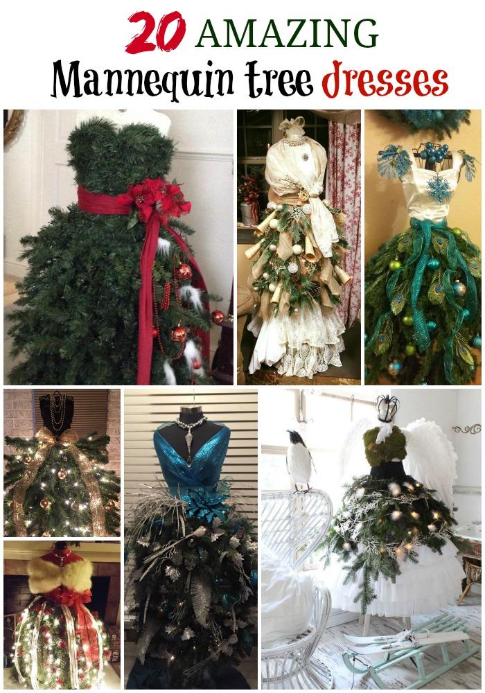 Mannequin Tree Dresses