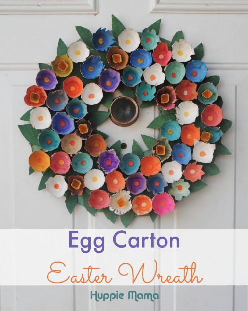Big Egg Carton Wreath