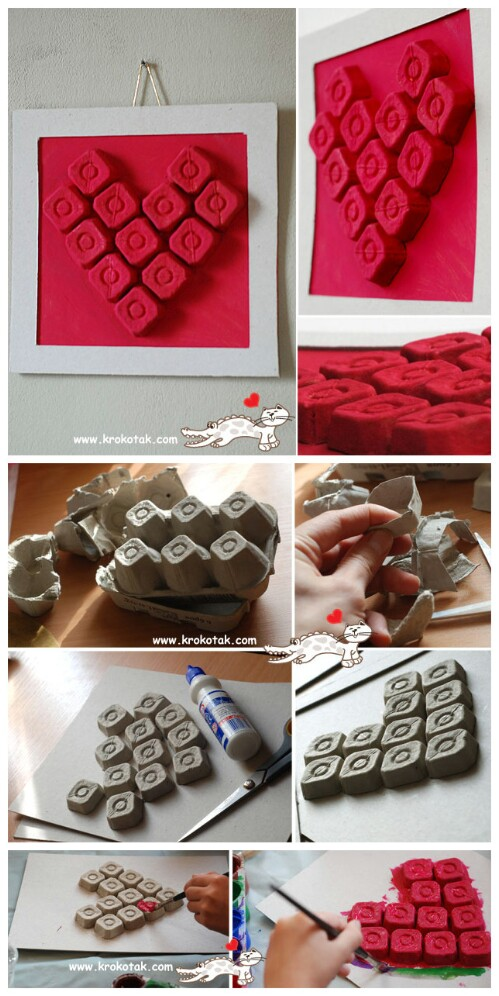Simple Egg Carton Wall Art