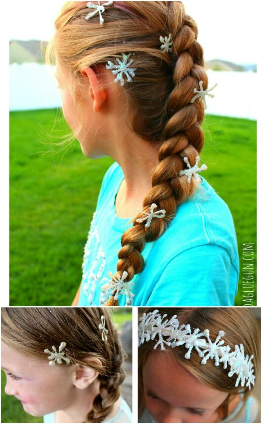 10. Frozen-Themed Snowflake Hair Clips