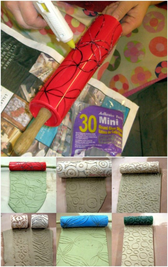 11. Make a Textured Roller for Clay