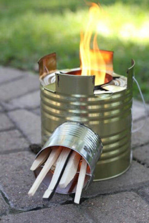 Create a Working Rocket Stove from a Tin Can