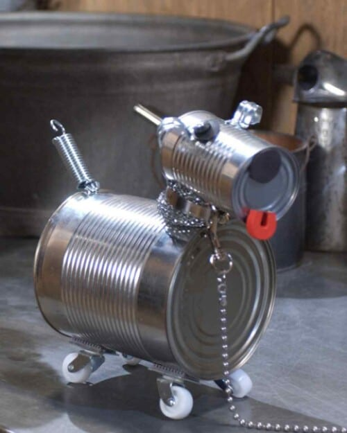 Adorable Tin Can Robot Dog