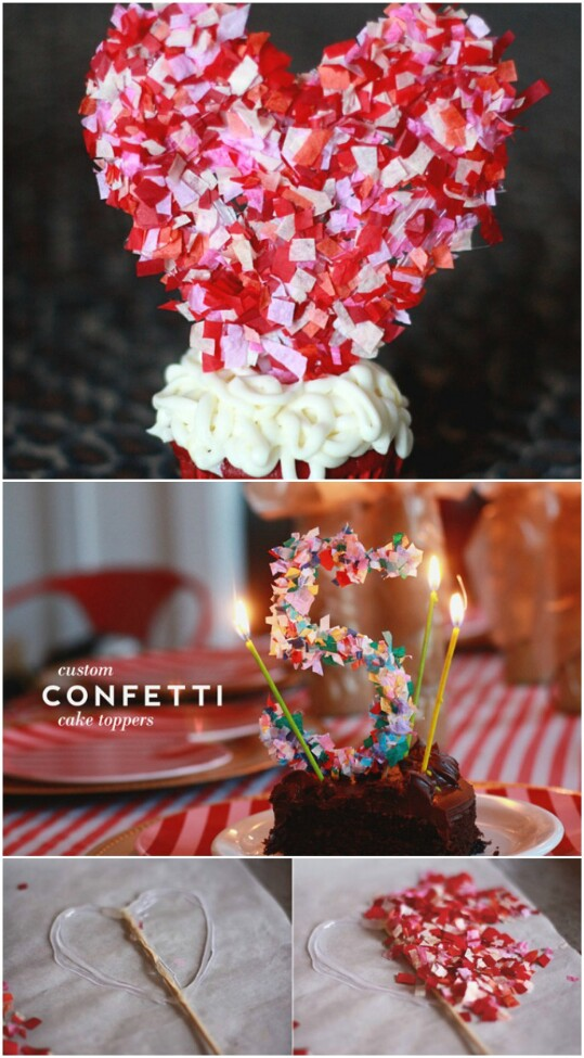 29. Make a Confetti Cake Topper