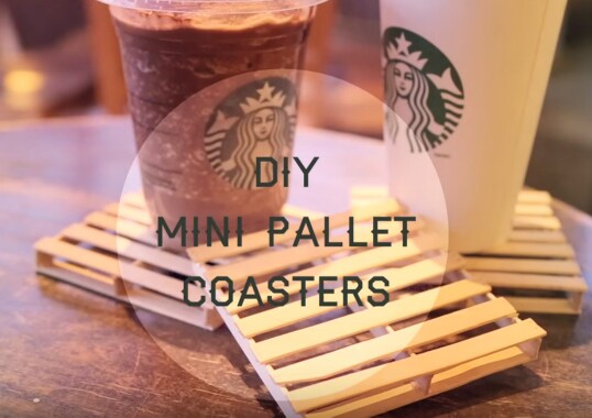 30. Amazing Mini-Pallet Drink Coasters