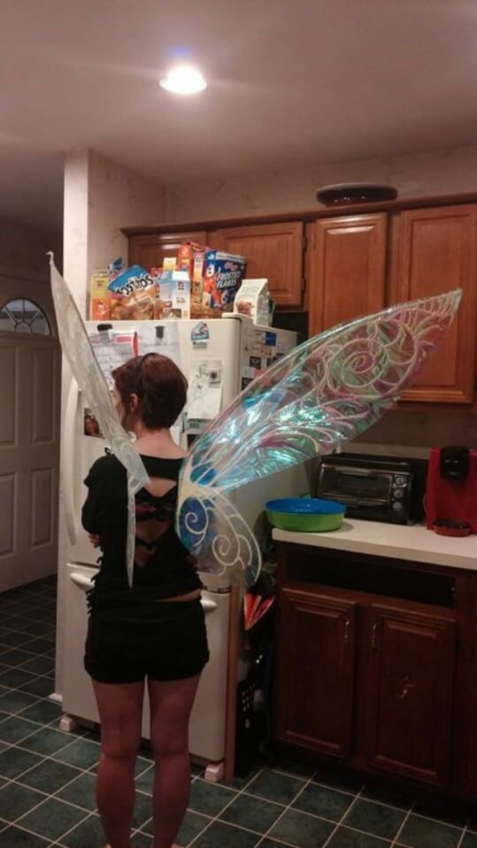 33. Make Cellophane Fairy Wings