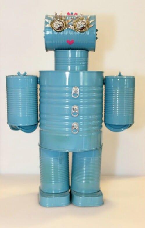 Retro-Futurist Tin Can Robot